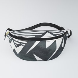 THE MOUNTAIN Black and White Fanny Pack