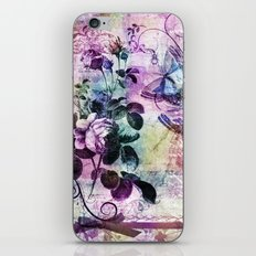 Vintage Floral and Butterflies iPhone & iPod Skin