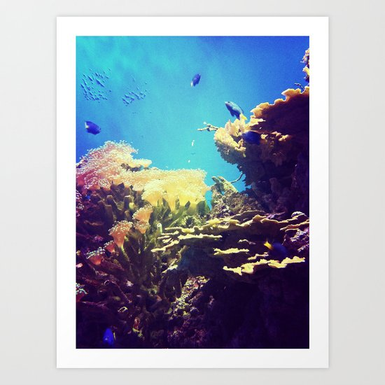 In The Big Blue World Art Print
