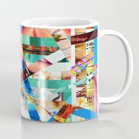 bianca green Mugs featuring Bianca (stripes 22) by Wayne Edson Bryan
