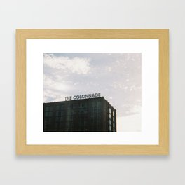 The Colonnade  Framed Art Print