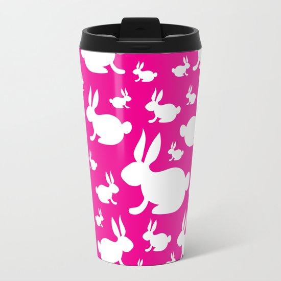 bunny travel mug pink