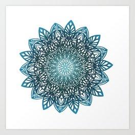 Blue mandala Art Print