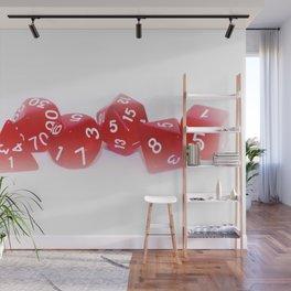 Red Gaming Dice Wall Mural