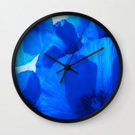 Blue Poppies #decor #society6 #buyart Wall Clock