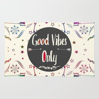 good vibes only Area & Throw Rugs featuring Good Vibes Only by famenxt