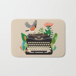 The bird and the typewriter Bath Mat