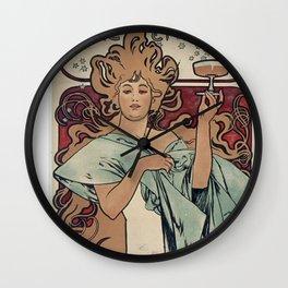 Ruinart Champagne / Alphonse Mucha Wall Clock