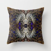 ornate Throw Pillows featuring Ornate by RingWaveArt