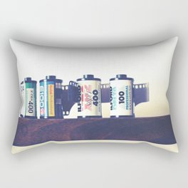 film cartridges old school (film photograph) Rectangular Pillow