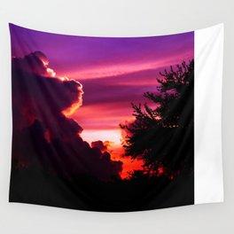 Blazing Sunset Wall Tapestry