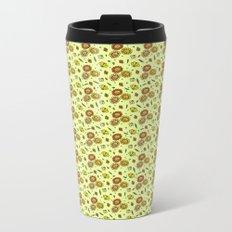 Cute Floral Metal Travel Mug