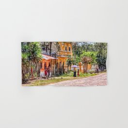 Village scene in Guatemala Hand & Bath Towel