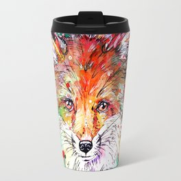Hide and Seek - Fox Painting Travel Mug