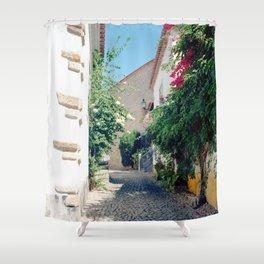 Portugal, Obidos (RR 181) Analog 6x6 odak Ektar 100 Shower Curtain