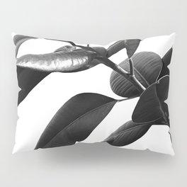 Ficus Elastica Black & White Vibes #1 #foliage #decor #art #society6 Pillow Sham