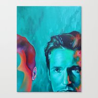 mulder Canvas Prints featuring Mulder by ZEKE