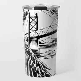 Mothman loves bridges Travel Mug