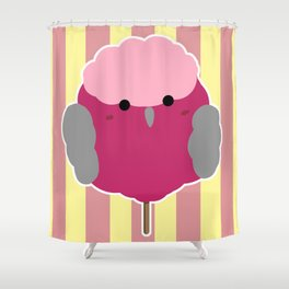 Fluffy cotton candy galah cockatoo Shower Curtain