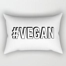 Hash Tag VEGAN Rectangular Pillow