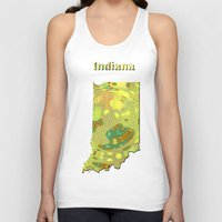 indiana Tank Tops featuring Indiana Map by Roger Wedegis