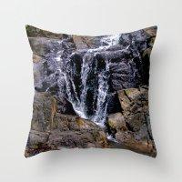 puerto rico Throw Pillows featuring Diego's Salcedo Waterfall Puerto Rico by Ricardo Patino