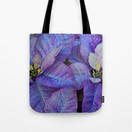 Purple poinsettia flowers Tote Bag