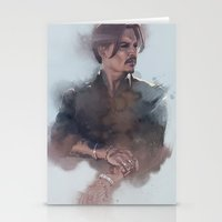 johnny depp Stationery Cards featuring Johnny Depp by Singhooi