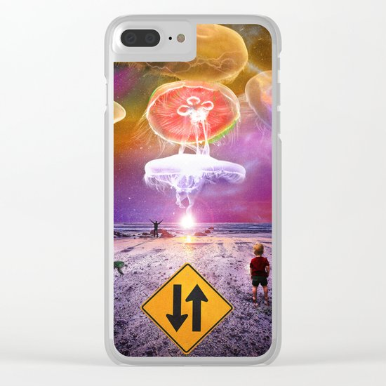 The Day of the Jellies Clear iPhone Case