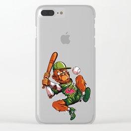Baseball Monkey - Limerick Clear iPhone Case