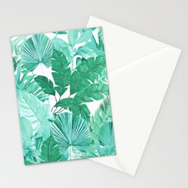 Tropical Leaf Green Stationery Cards