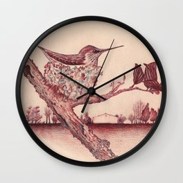 Nested Hummingbird Wall Clock