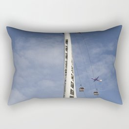 Emirates Cable Car And Flybe Aircraft Rectangular Pillow