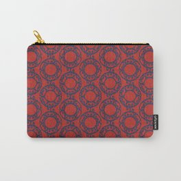 Scrolled Ringed Ikat – Valiant Poppy Navy Carry-All Pouch