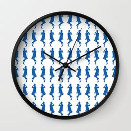 Denim Blue Bold Mod GoGo Girls Wall Clock