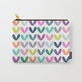 Love Hearts | Multi Color Carry-All Pouch