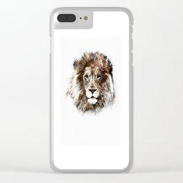 Portrait: Lion Clear iPhone Case