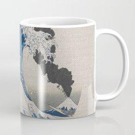 Great Wave Off Kanagawa Erupting Mount Fuji Coffee Mug