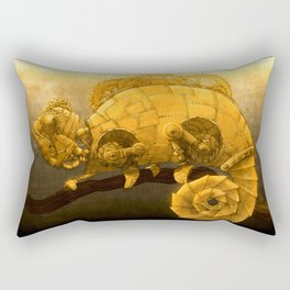 Steampunk Chameleon Rectangular Pillow