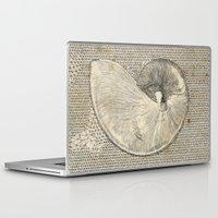 seashell Laptop & iPad Skins featuring SEASHELL by Mary Szulc