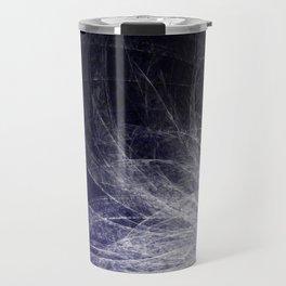 Cyan Texture Feathers Travel Mug