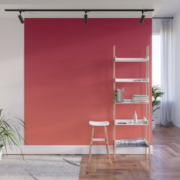 Living Coral Jester Red Gradient Ombre Pattern Bordo Burgundy Watercolor Texture Wall Mural