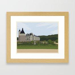 Chateau de Chenonceau (no writing) Framed Art Print