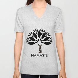 Namaste Tree Unisex V-Neck