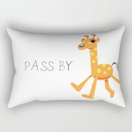 Giraffe walk Rectangular Pillow