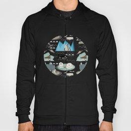 Arctic animals blue Hoody