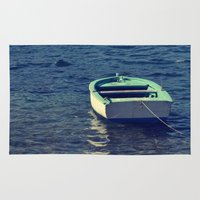 boat Area & Throw Rugs featuring boat by gzm_guvenc