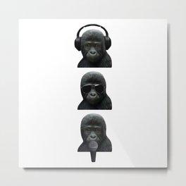 3 Wise Music Monkeys Metal Print