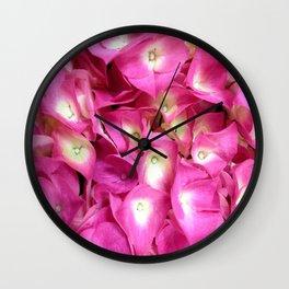 Perky Pink Hydrangea Wall Clock