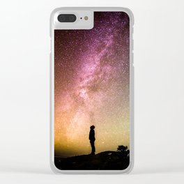 Galaxy Starry Night Universe Clear iPhone Case
